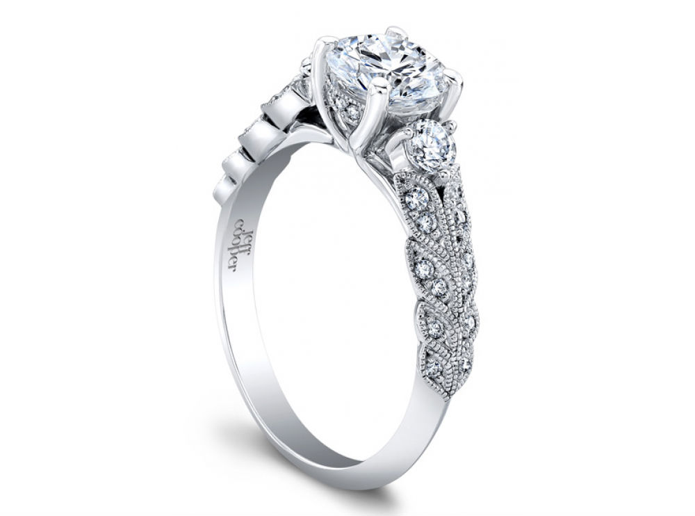 Laurel collection engagement rings at Long Jewelers