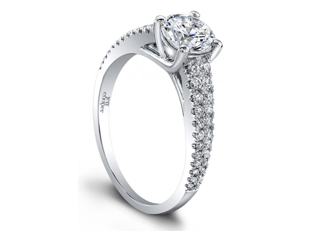 Arabesque collection engagement rings at Long Jewelers