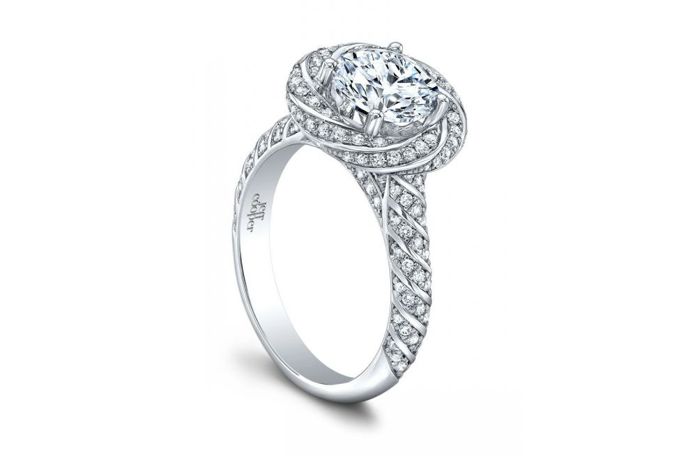Lumiere collection engagement rings at Long Jewelers