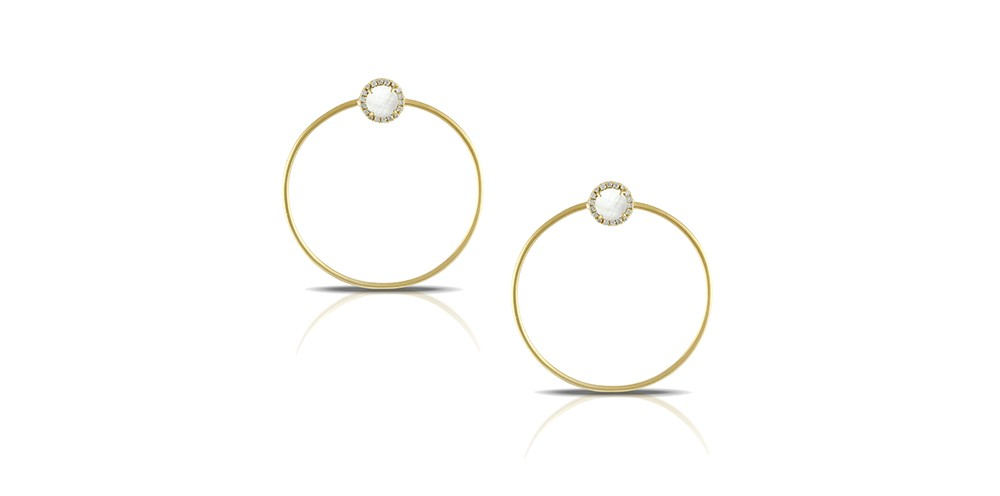 Doves by Doron Paloma Hoop Earrings