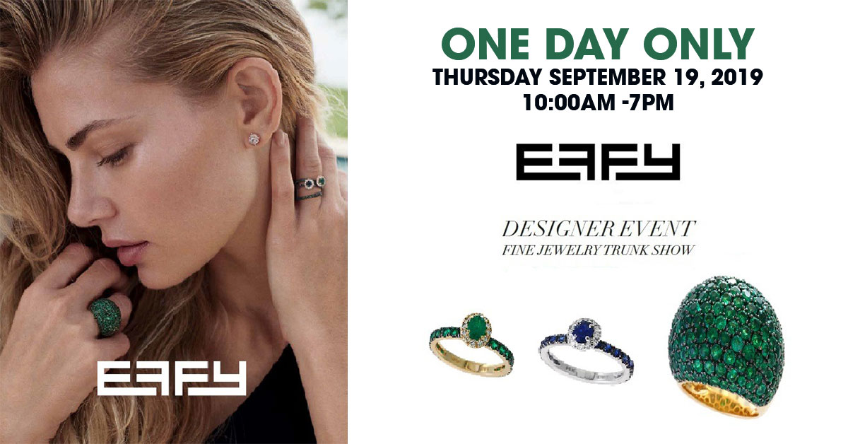 Annual Effy trunk show at Long Jewelers