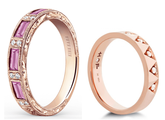 Rose Gold Wedding Bands Available at Long Jewelers