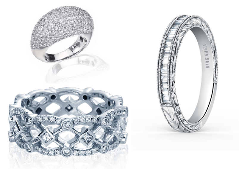 White Gold Wedding Bands Available at Long Jewelers